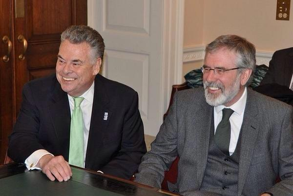 Peter King and Gerry Adams