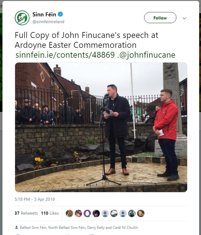 JohnFinucaneArdoyneEasterCommemoration